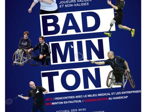 Evénement sportif badminton presses